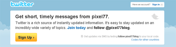 Twitter Pixel77 Lets Be Friends!