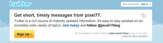 Twitter Pixel77 Lets Be Friends!
