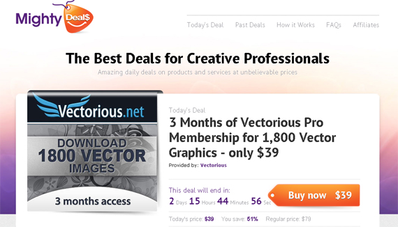 Mighty Deals and Vectorious 3 Months of Vectorious Pro Membership for 1,800 Vector Graphics   Only $39