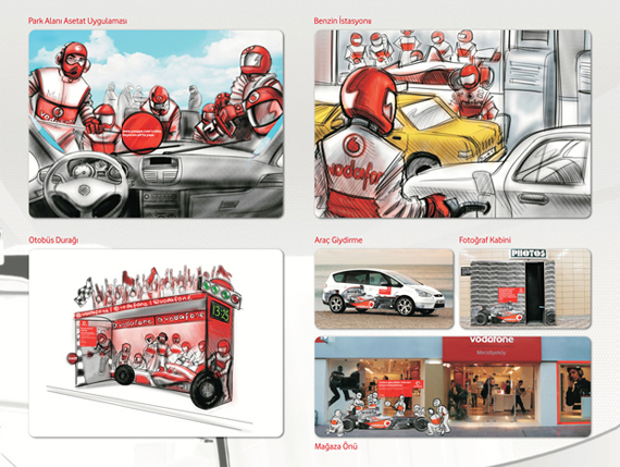 Sketchboard for Vodafone Interview with Graphic Designer Can Soner