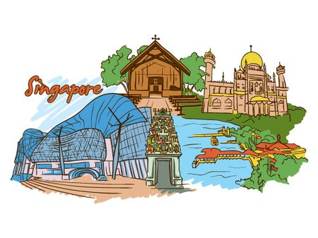 18 05 2011 591 Amsterdam, Barcelona, London, New York, Paris and Singapore – Famous Cities Vector Pack 2