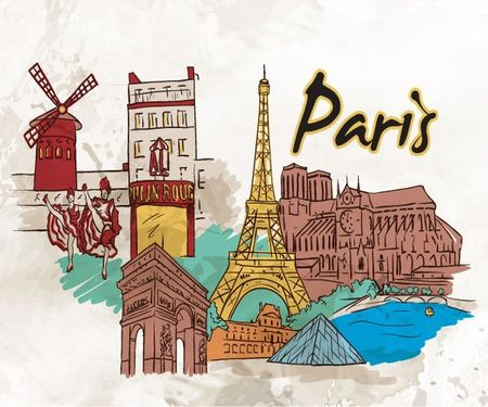 18 05 2011 602 Amsterdam, Barcelona, London, New York, Paris and Singapore – Famous Cities Vector Pack 2