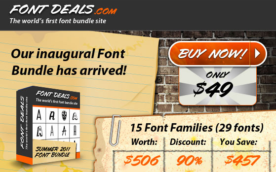 FontDeals FontDeals.com Just Launched! The Worlds First Font Bundle Site