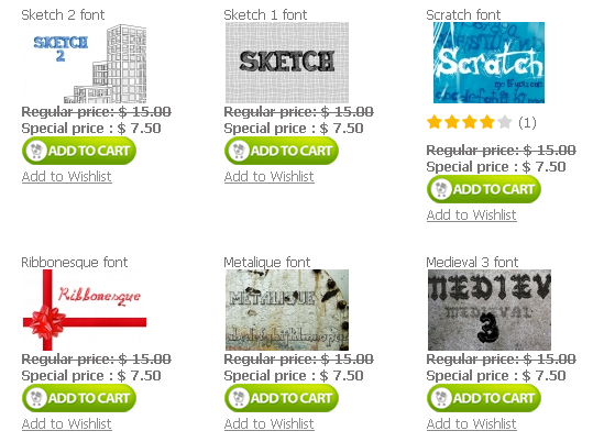 Fonts1 Designious.com is Melting the Prices 50% Discount on All Products!
