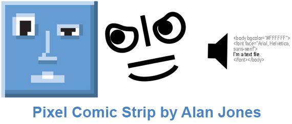 Pixel Comic Strip Characters Pixel Comic Strip #1 by Alan Jones