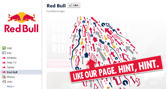 Red Bull Facebook Call to Action How to Persuade Your Visitors to Sign Up to Your Blogs Membership Plan