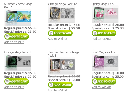 Vector Mega Packs Designious.com is Melting the Prices 50% Discount on All Products!