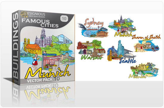 designious famous cities vector pack 10 preview 1 10 New and Incredible Vector Packs From Designious.com 60 Famous Cities