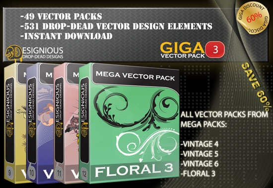The first 2000 bundle buyers will get a free treat: Giga Vector Pack 3 from ...