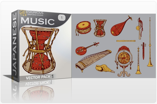 japanese music pack preview 1 Special Friday 50% Discount on Japanese Vector Mega Pack 2
