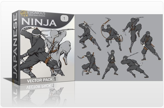 ninja pack preview 1 Special Friday 50% Discount on Japanese Vector Mega Pack 2