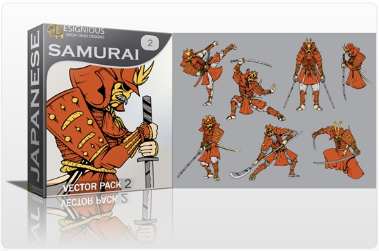 samurai pack preview 1 1 Special Friday 50% Discount on Japanese Vector Mega Pack 2