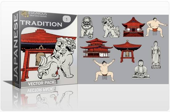 tradition pack preview 1 Special Friday 50% Discount on Japanese Vector Mega Pack 2