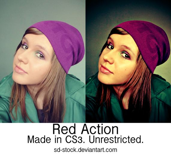 Red Action by sd stock Pimp Your Photo   Over 20 Awesome and Free Photoshop Actions