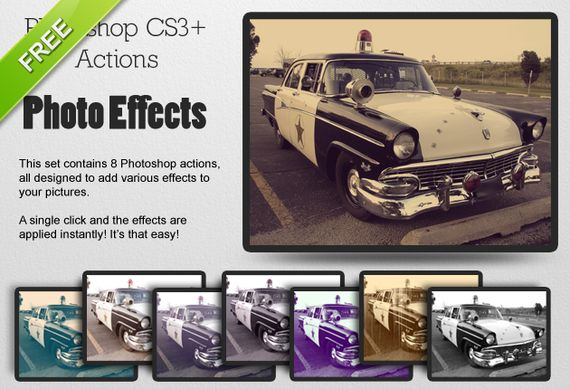 photo effects FREE1 Pimp Your Photo   Over 20 Awesome and Free Photoshop Actions