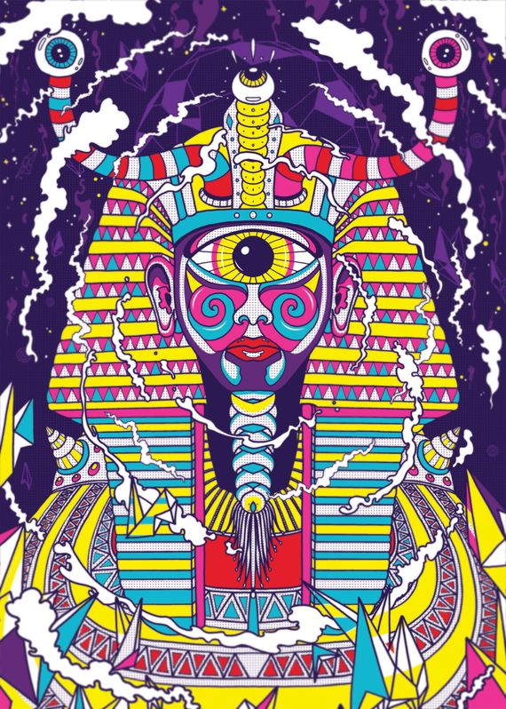 DIGI ARTS PSYCHEDELIC PHARAOH FINAL1 Photoshop Tutorials Roundup   August 2011