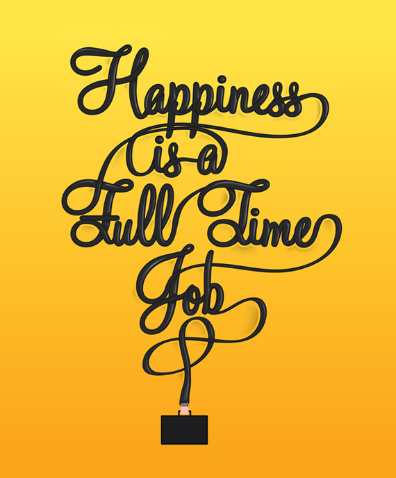 Happiness is a full time job1 Handwritten Fonts   A Touch of Creativity in Your Designs