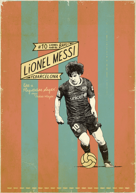 Lionel Messi poster Handwritten Fonts   A Touch of Creativity in Your Designs