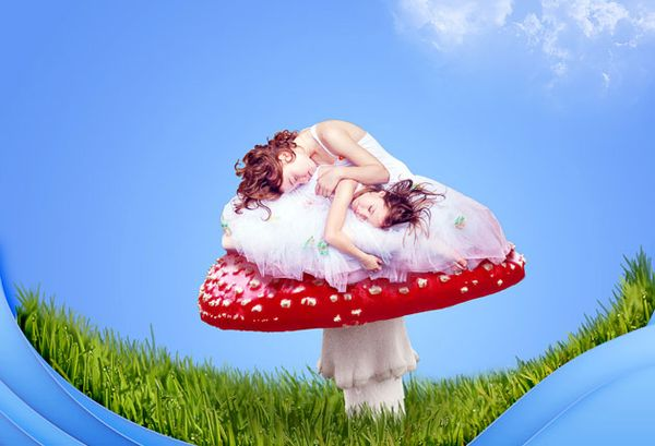 final DesignTNT tuts cute fantasy composition11 Photoshop Tutorials Roundup – July 2011