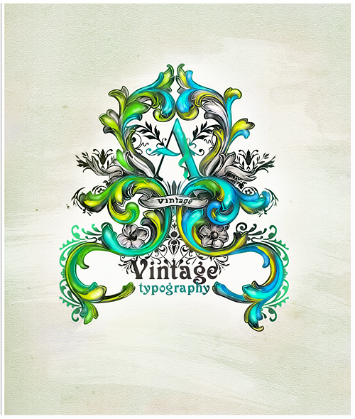 vintage typography tutorial 51 Photoshop Tutorials Roundup   August 2011