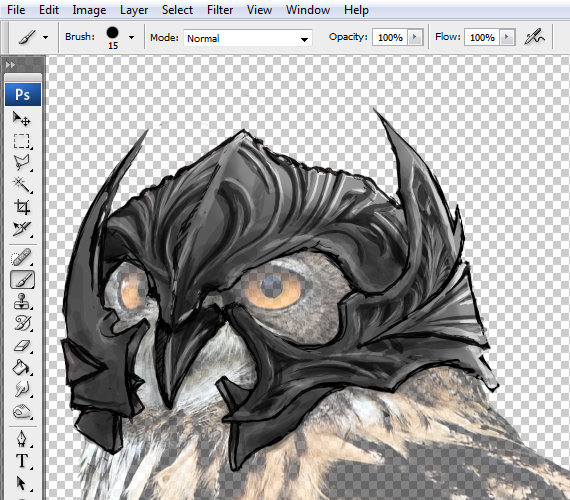 12 pixel 77 owl poster tutorial Design Process: How to create a movie poster with Photoshop and Paint Tool SAI