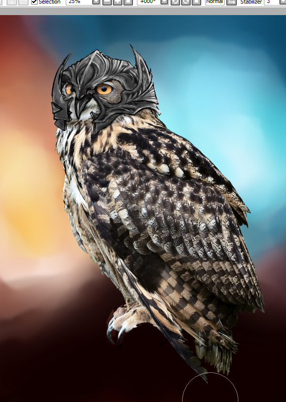 18 pixel 77 owl poster tutorial Design Process: How to create a movie poster with Photoshop and Paint Tool SAI