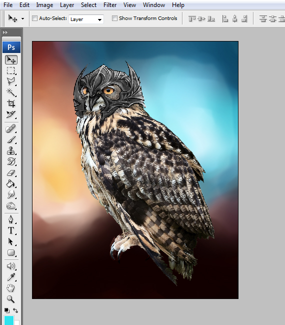 21 pixel 77 owl poster tutorial Design Process: How to create a movie poster with Photoshop and Paint Tool SAI