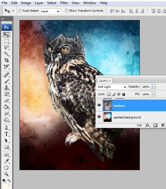 22 pixel 77 owl poster tutorial Design Process: How to create a movie poster with Photoshop and Paint Tool SAI