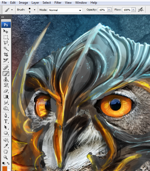 25.1 pixel 77 owl poster tutorial Design Process: How to create a movie poster with Photoshop and Paint Tool SAI
