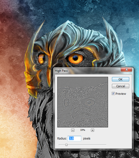 27 pixel 77 owl poster tutorial Design Process: How to create a movie poster with Photoshop and Paint Tool SAI