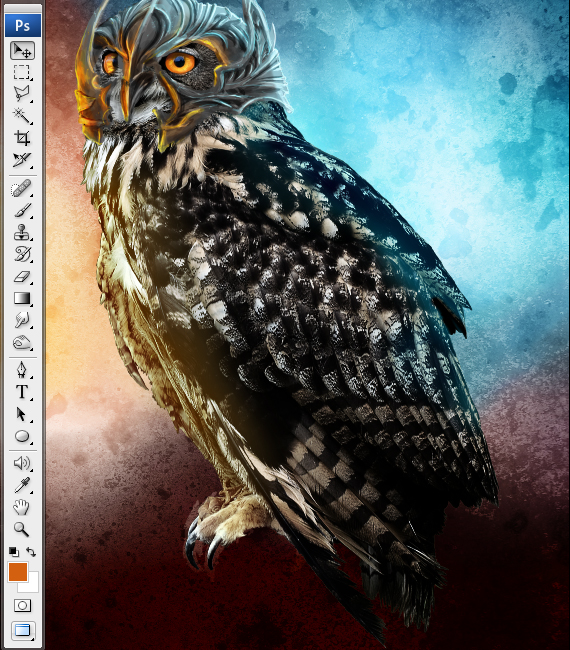 28 pixel 77 owl poster tutorial Design Process: How to create a movie poster with Photoshop and Paint Tool SAI