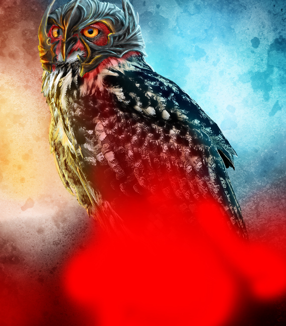 31 pixel 77 owl poster tutorial Design Process: How to create a movie poster with Photoshop and Paint Tool SAI