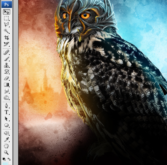 35 pixel 77 owl poster tutorial Design Process: How to create a movie poster with Photoshop and Paint Tool SAI