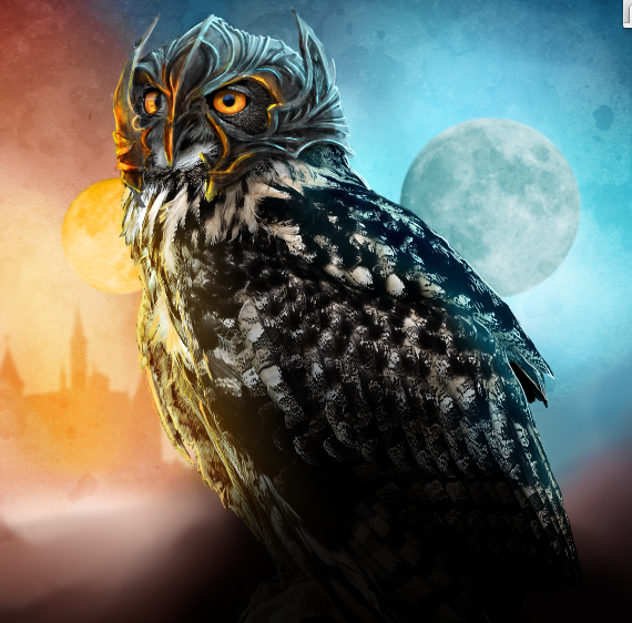 36 pixel 77 owl poster tutorial Design Process: How to create a movie poster with Photoshop and Paint Tool SAI