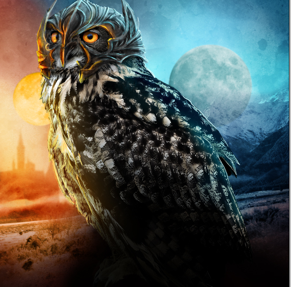 37.1 pixel 77 owl poster tutorial Design Process: How to create a movie poster with Photoshop and Paint Tool SAI