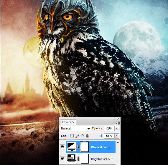 38.1 pixel 77 owl poster tutorial Design Process: How to create a movie poster with Photoshop and Paint Tool SAI