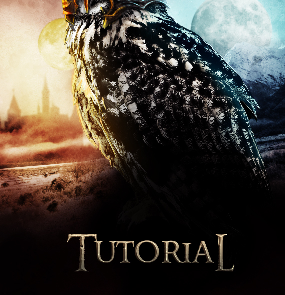 40.2 pixel 77 owl poster tutorial Design Process: How to create a movie poster with Photoshop and Paint Tool SAI