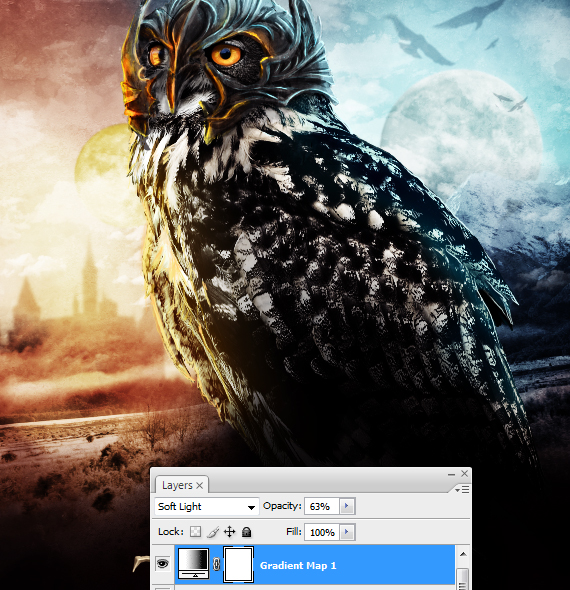 42.1 pixel 77 owl poster tutorial Design Process: How to create a movie poster with Photoshop and Paint Tool SAI