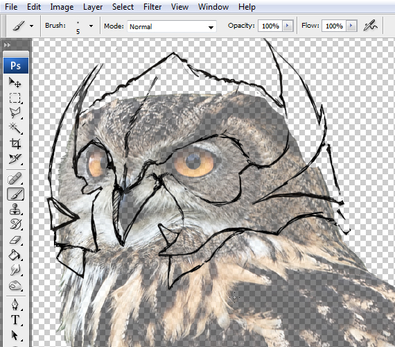6 pixel 77 owl poster tutorial Design Process: How to create a movie poster with Photoshop and Paint Tool SAI