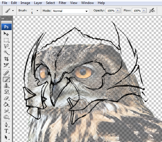 7 pixel 77 owl poster tutorial Design Process: How to create a movie poster with Photoshop and Paint Tool SAI