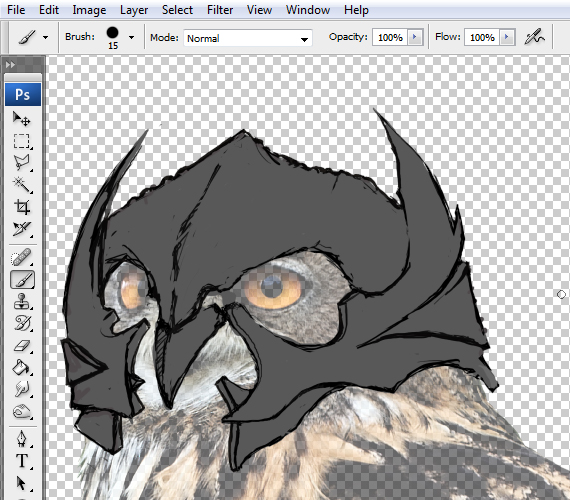 8 pixel 77 owl poster tutorial Design Process: How to create a movie poster with Photoshop and Paint Tool SAI