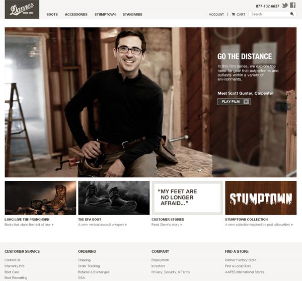Danner website1 How to create an effective website design
