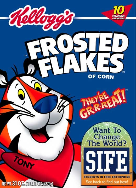 Tony the tiger Kelloggs 15 Most Creative and Effective Advertising Taglines