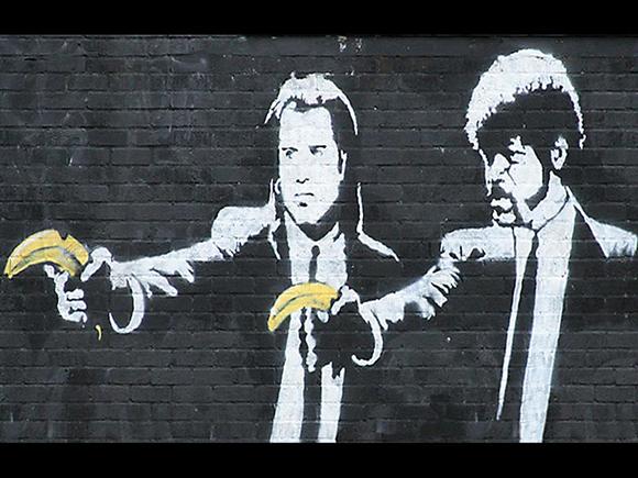 02 banksy pulp fiction 15 Memorable Street Art Masterpieces by Banksy