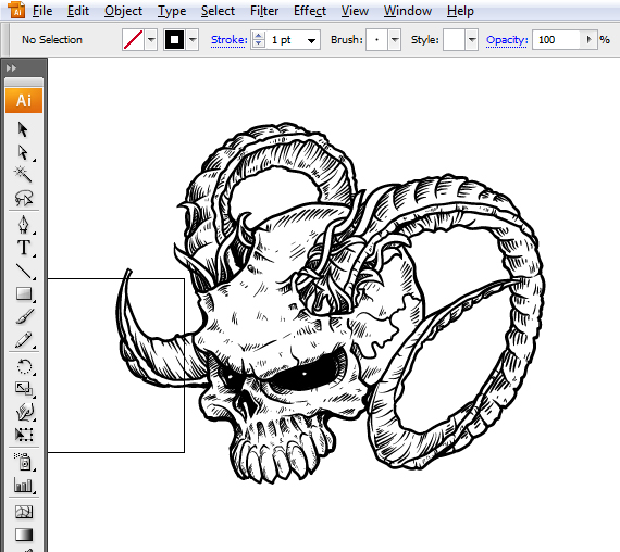 1 pixel 77 complete guide to draw skulls illustrator A complete guide to drawing evil vector skulls in Illustrator