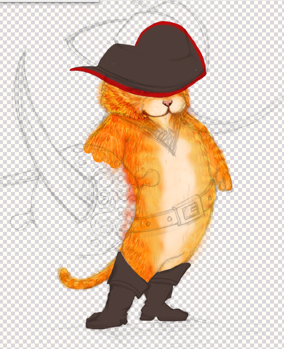 15 pixel 77 puss in boots photoshop tutorial Design Process: How to create a Puss in Boots movie poster in Photoshop