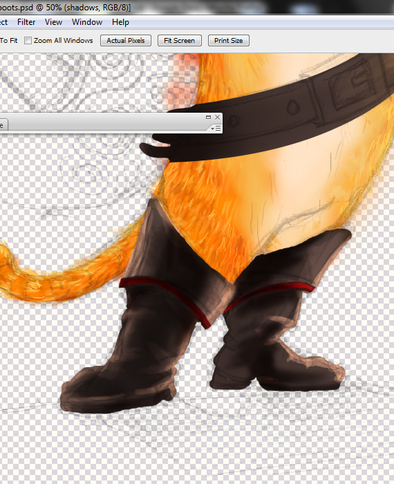 17 pixel 77 puss in boots photoshop tutorial Design Process: How to create a Puss in Boots movie poster in Photoshop