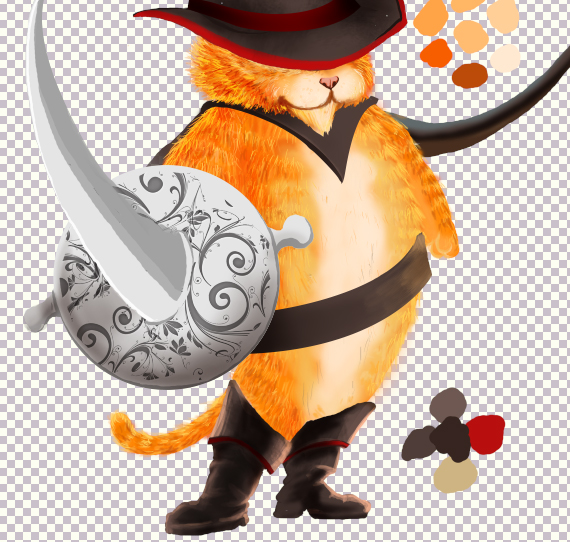 24 pixel 77 puss in boots photoshop tutorial Design Process: How to create a Puss in Boots movie poster in Photoshop