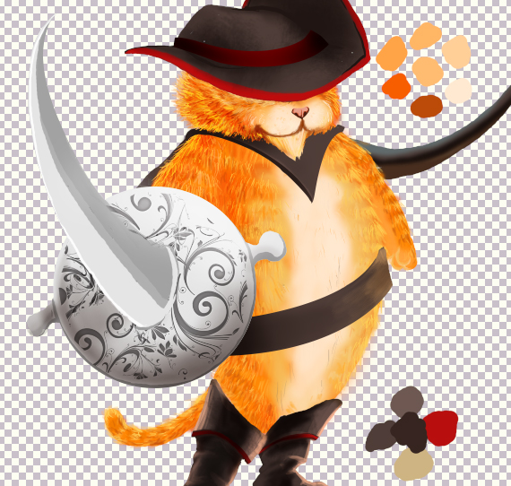 25 pixel 77 puss in boots photoshop tutorial Design Process: How to create a Puss in Boots movie poster in Photoshop