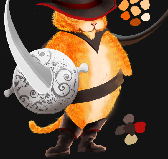 26 pixel 77 puss in boots photoshop tutorial Design Process: How to create a Puss in Boots movie poster in Photoshop